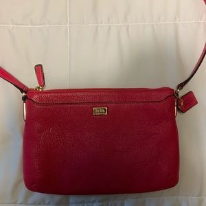 Coach Purse with Strap in Magenta
